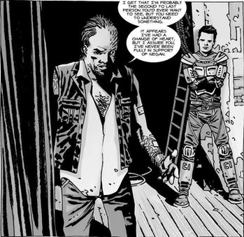 Dwight betrays Negan to the Kingdom and Rick in 'The Walking Dead'