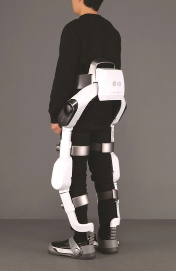 Back view of LG SuitBot