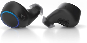 Creative Outlier Air TWS True Wireless Sweatproof Earphones, Bluetooth 5.0, aptX/AAC, Long Battery Life 30hrs Total, 10hrs Per Charge, Graphene Driver, Dual-Voice Calls, Siri/Google Assistant (Black)