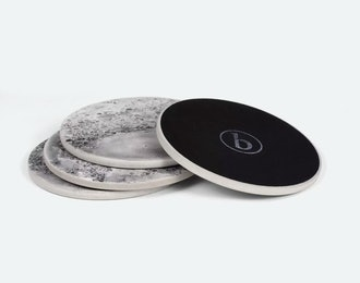 Bronsen Concrete Moon Coasters