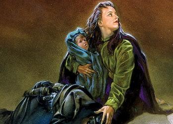 Nomi Sunrider in 'Tales of Jedi.' (Art by Dave Dorman, copyright Dark Horse Comics, Marvel)