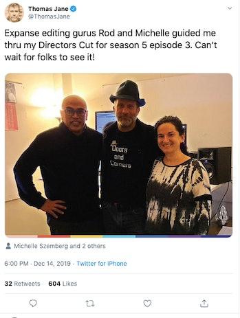 Thomas Jane direct expanse season 5