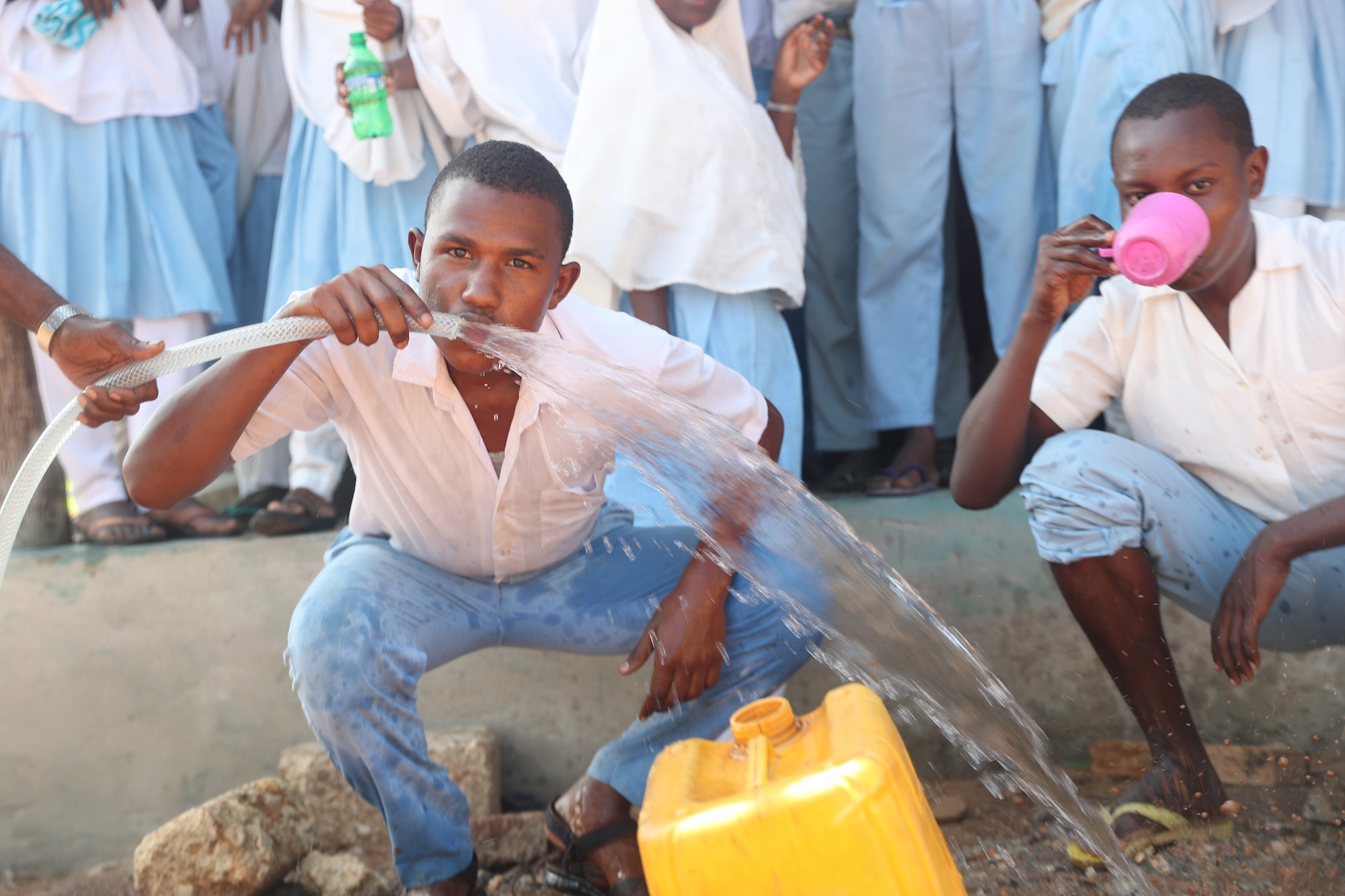 The system provides clean water.