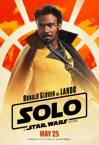 Donald Glover as Lando Calrissian in 'Solo: A Star Wars Story'.