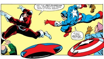 Red Guardian and Captain America in Marvel comics