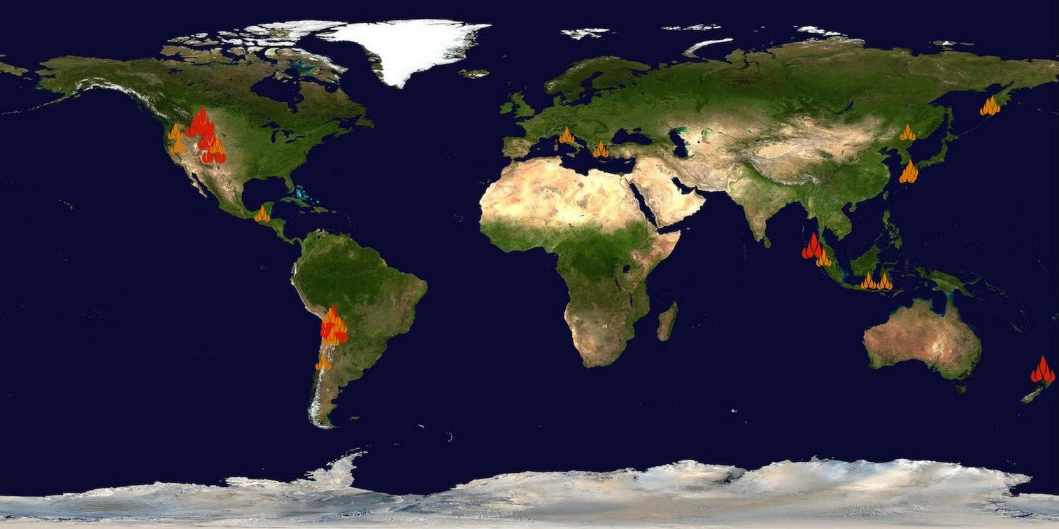 supereruption history map