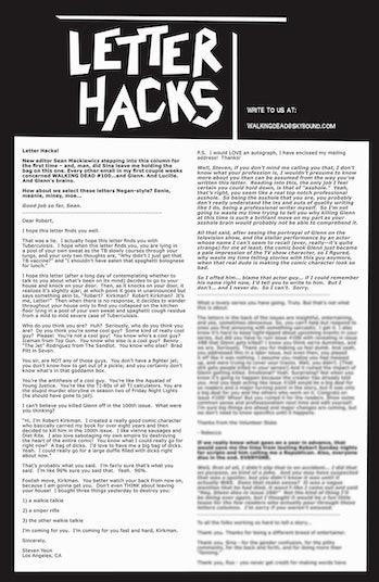 Glenn Steven Yeun Letter Walking Dead
