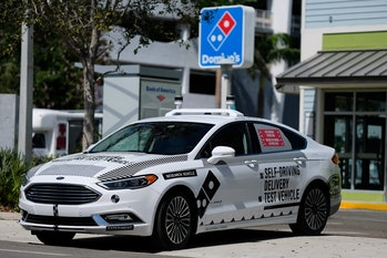 Ford's test vehicle in Miami.