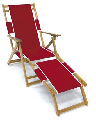 Frankford Oak Beach Chair with Detachable Legrest