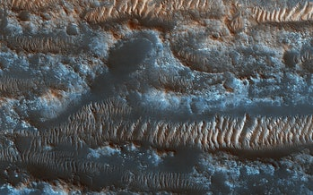 mars sandy topography