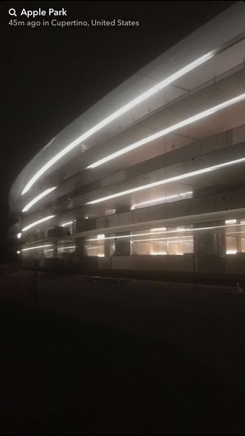 How the campus looks at night.