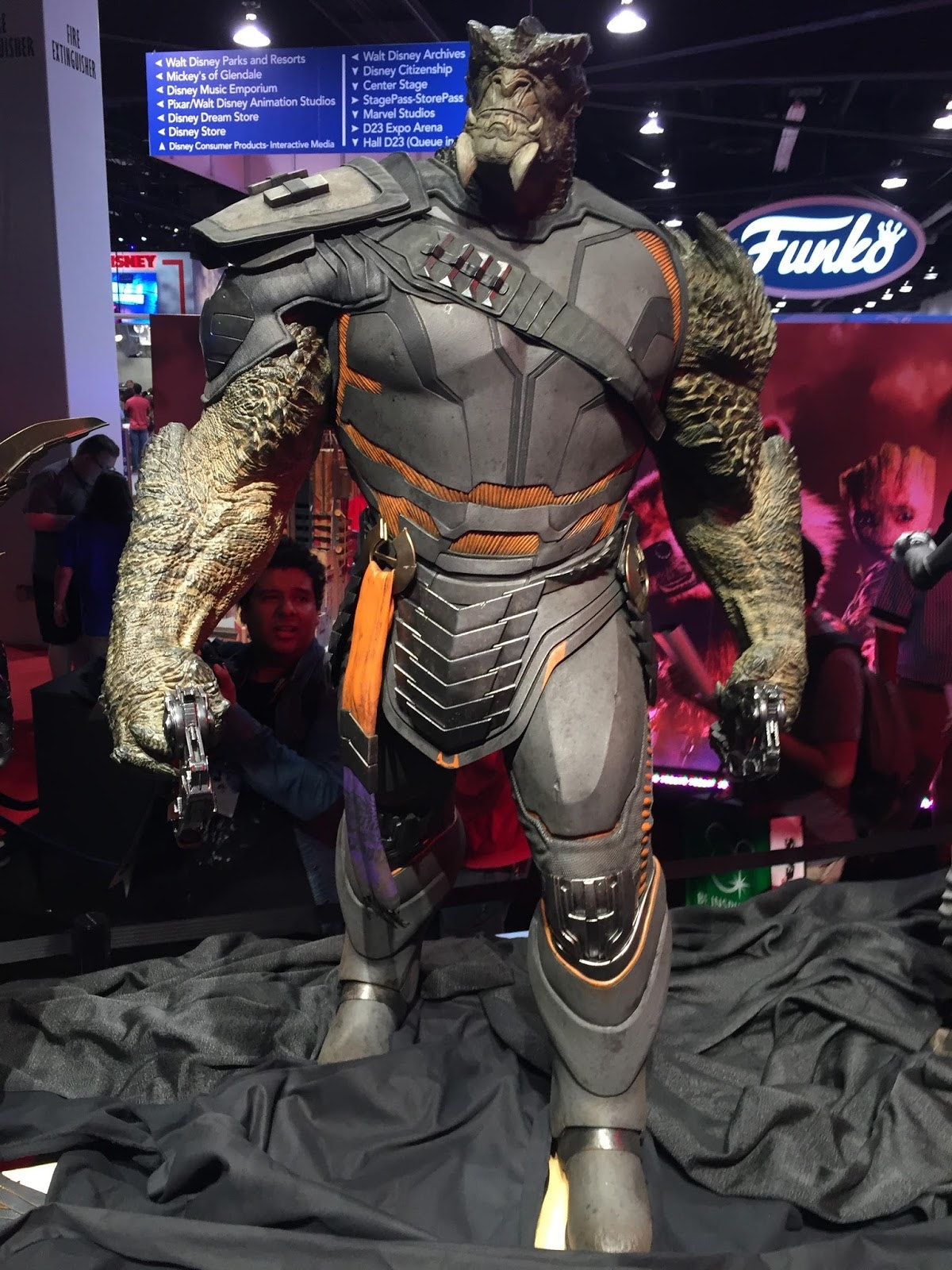 A statue Marvel made of Cull Obsidian on display at D23 Expo in 2017.