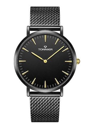 Tonnier Stainless Steel Slim Watch