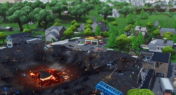 Fortnite Retail Row Volcano