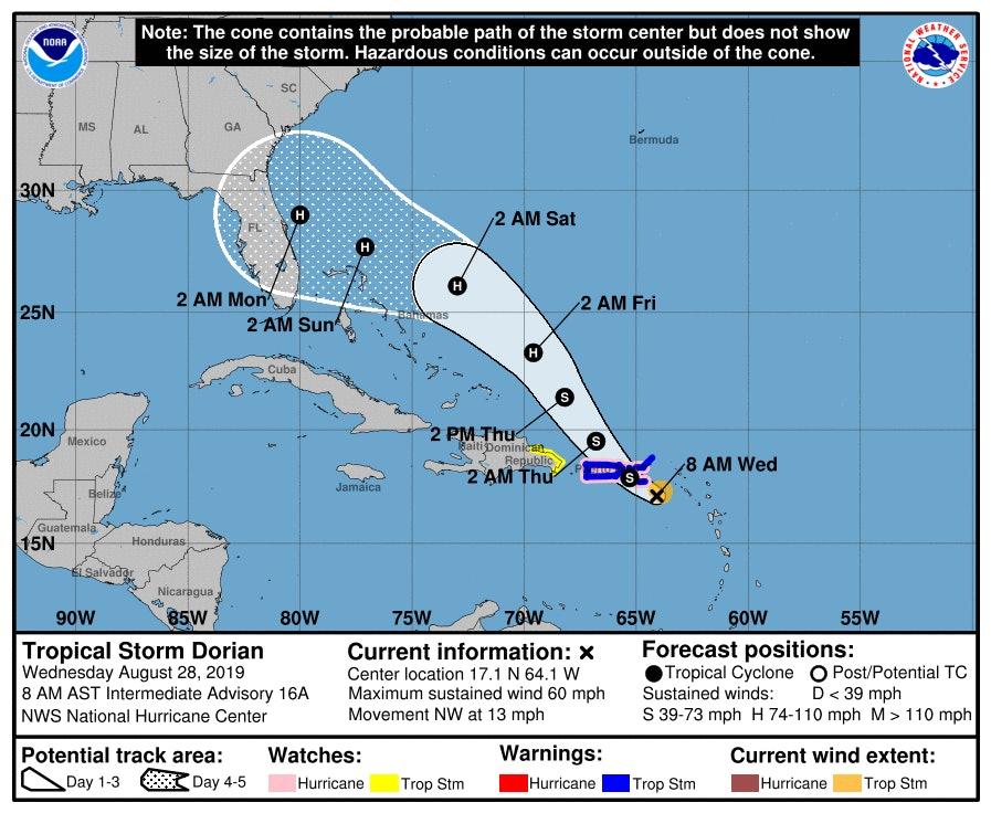 tropical storm dorian noaa