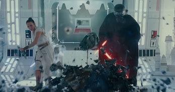 Vader's helmet Rise of Skywalker trailer