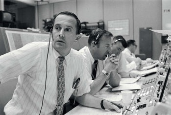 Charlie Duke manned the CapCom post during the Apollo 11 mission and was later lunar module pilot on Apollo 16.