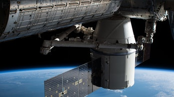 The SpaceX Dragon capsule connected to the ISS before it returned to Earth on January 13, 2018.