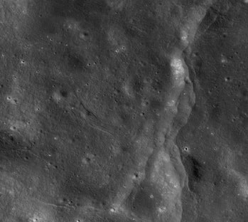 moon disturbed by faults