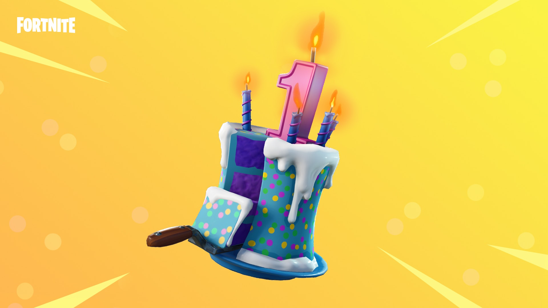 Only the top tier of the birthday cakes looks like this in 'Fortnite: Battle Royale'.