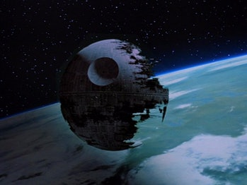 The second Death Star above Endor
