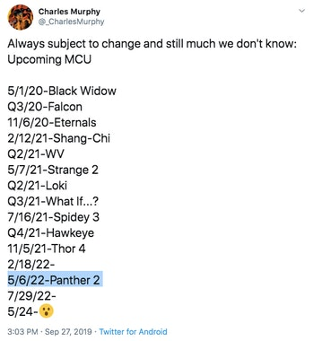 Black Panther 2 release date leaks