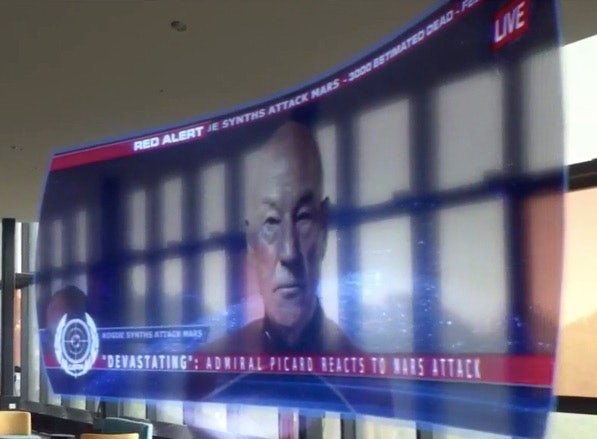 Picard makes an announcement to the press.