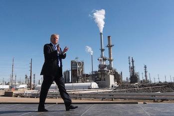 donald trump oil refinery
