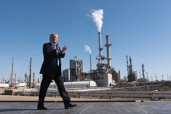 donald trump oil refinery