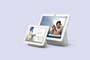 "Google Home Hub with Voice-Activated Assistant - 7"" Smart Touchscreen (Chalk White)"