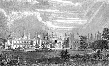 Brighton's West Front, by Augustus Pugin, 1824
