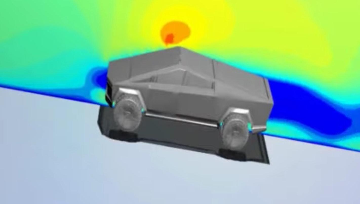 Tesla Cybertruck aerodynamics video