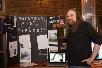 Crugnale's booth at the Inverse Science Fair.