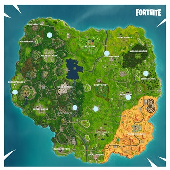 'Fortnite' Time Trials Map Locations