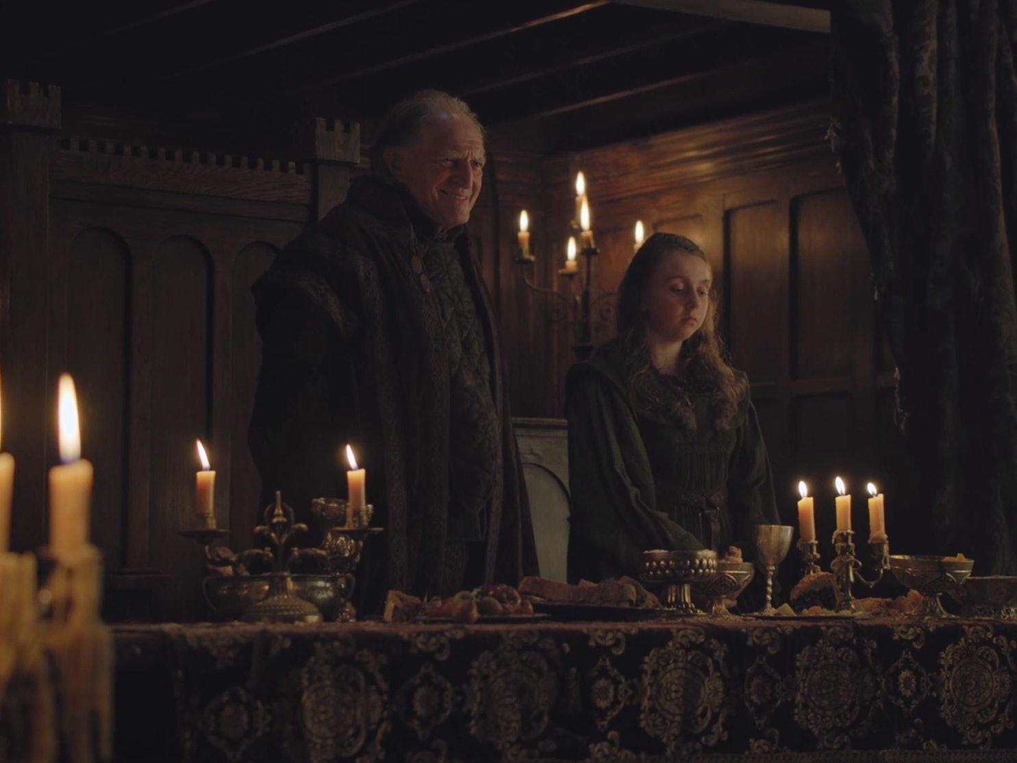 walder frey arya stark game of thrones season seven 7 premiere feast opening