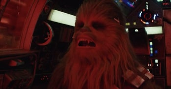 Chewie in the climax of 'The Last Jedi'