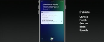 Siri also supports translations now.