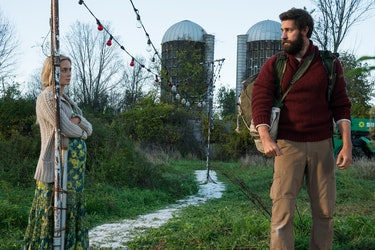 Emily Blunt and John Krasinski in 'A Quiet Place'.