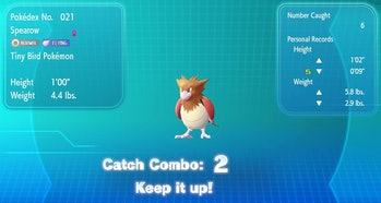 'Pokemon: Let's Go' Catch Combo