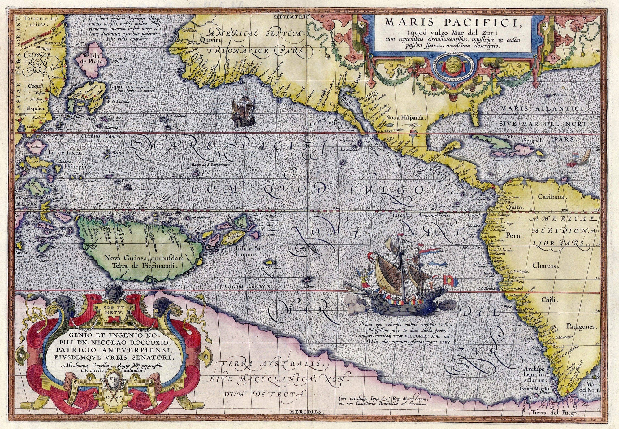 Abraham Ortelius map of the Pacific