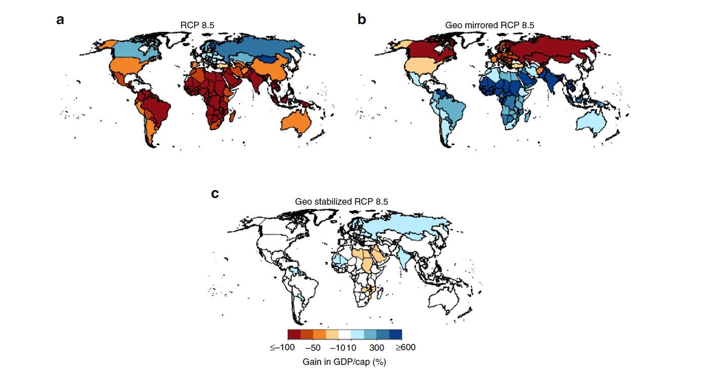 Scientists tested their economic models on a variety of potential climate outcomes to see how change in temperature might affect global GDP.