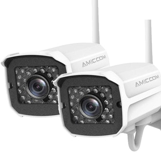 Outdoor Security Camera (2 Pack) ,1080P HD Security Camera System