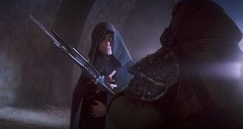 Luke looking ominous AF in 'Return of the Jedi'