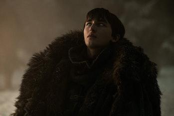 "Isaac Hempstead Wright as Bran Stark on 'Game of Thrones' Season 8, Episode 3 ""The Long Night"""