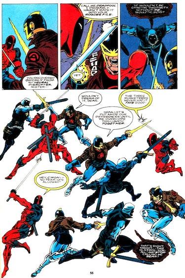 Avengers Dane Whitman Black Knight Deadpool