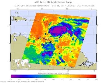 nasa satellite aqua hurricane maria