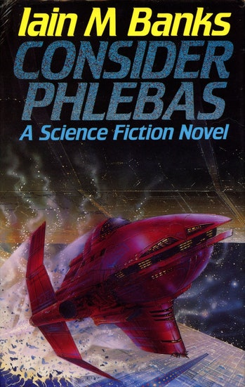 The cover for 'Consider Phlebas', which will be turned into an Amazon TV series.
