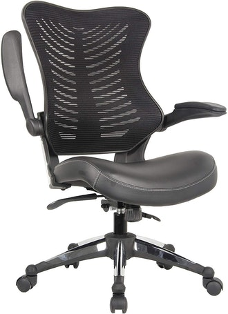 Office Factor Ergonomic Office Chair with Leather Seat