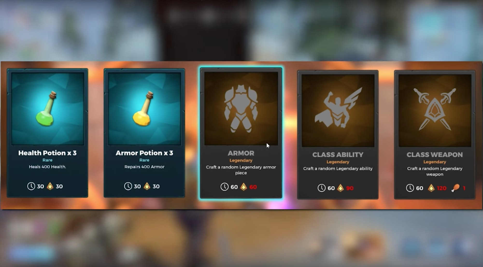 realm royale crafting menu