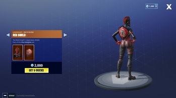 Currently, the Red Shield doesn't actually appear in-game.